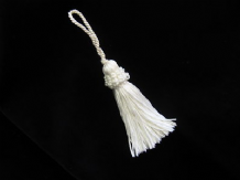 White silky key tassel - Wedding decoration or key tassel  -  13cm long